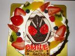 仮面ライダーのケーキ.JPG
